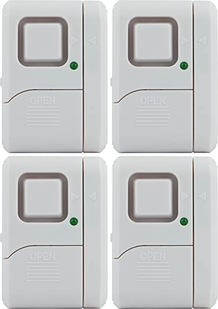General Electric GE 45174 Magnetic Indoor Window Alarms (4 Pk)