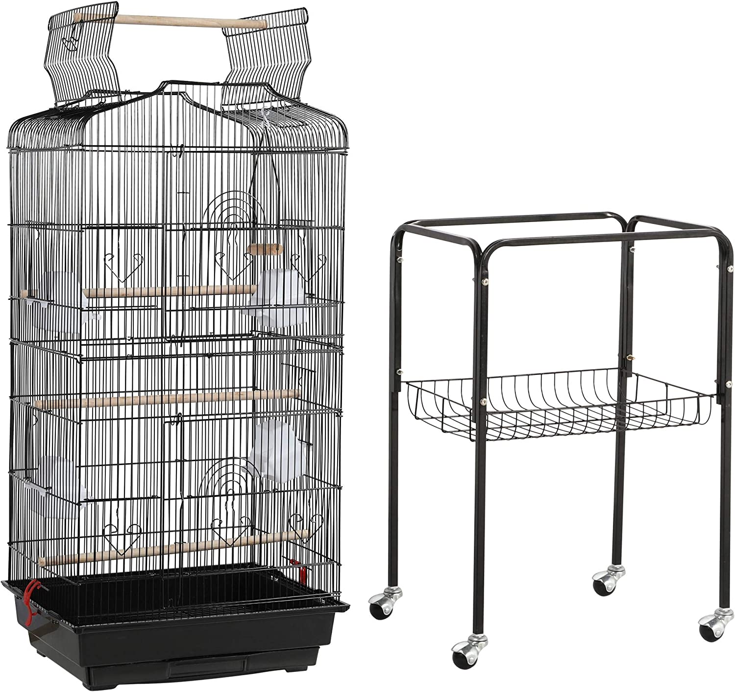 Topeakmart Open Play Top Large Parakeet Small Parrot Bird Cage
