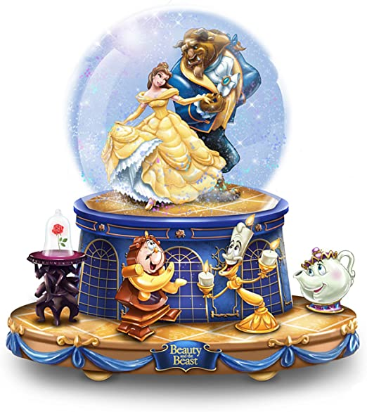 The Bradford Exchange Disney Beauty And The Beast Musical Glitter Globe With Rotating Characters Amazon Ca Home Kitchen
