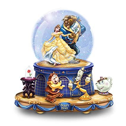 Bradford Exchange The Disney Beauty And The Beast Musical Glitter Globe With Rotating Characters