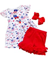 So Sydney Girls Toddler 2-4 Pc Novelty Summer Shorts or Skirt Outfit & Accessory