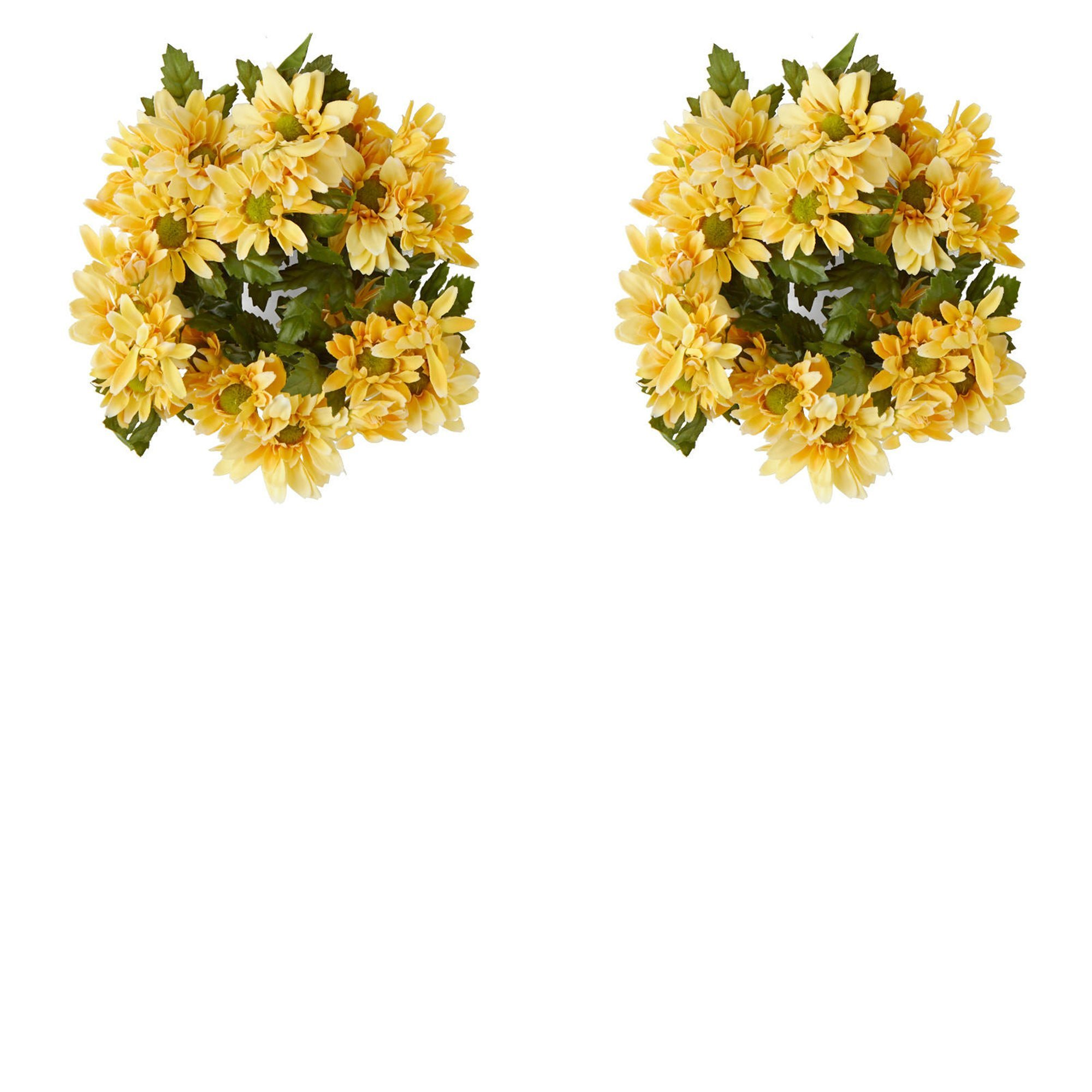 Factory Direct Craft Poly Silk Yellow Gerbera Daisy Candle Rings 2 Candle Rings