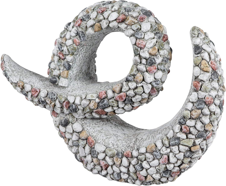 dekojohnson - Decoración moderna para jardín de magnesio de 44 cm grande con piedras de piedra decoradas con piedras de color de piedra