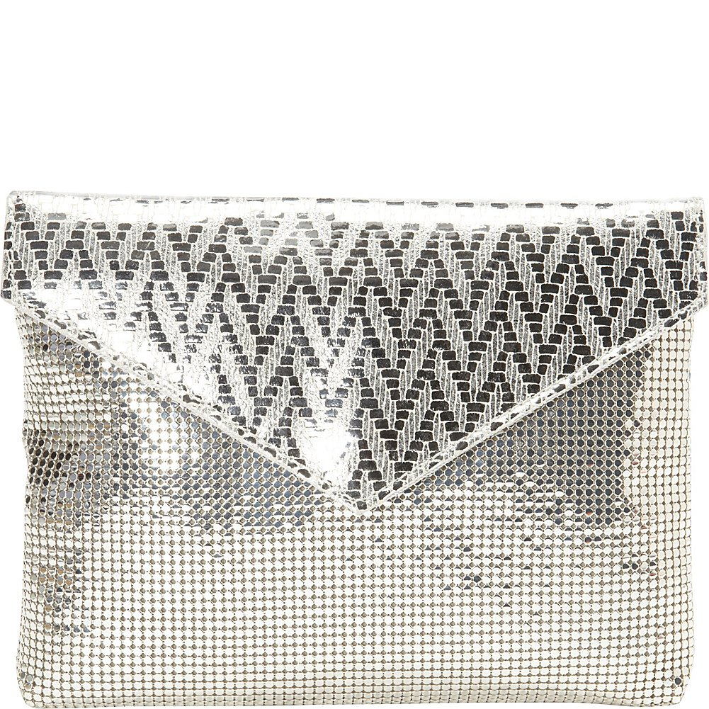 Whiting and Davis Weave Envelope Clutch 1-4190GM