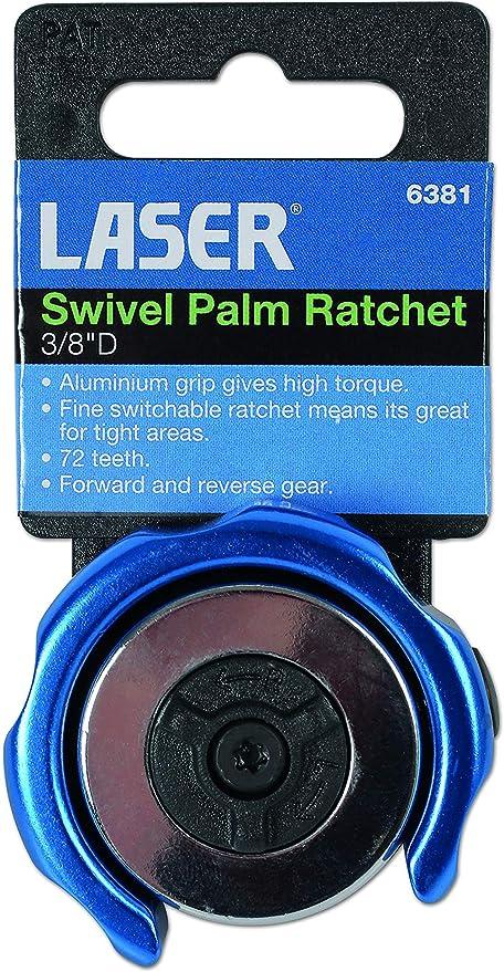 "Laser Tools 6381 Swivel Palm Ratchet 3//8/""D"
