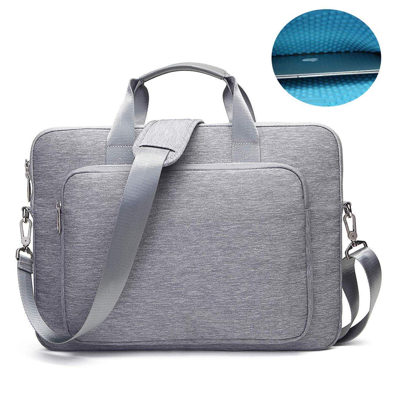 15.6 Inch Laptop Briefcase Messenger Shoulder Bag Handle Shoulder Strap Multi-Functional Waterproof Carrying Case Laptop/Notebook/MacBook/Ultrabook/Chromebook Computers