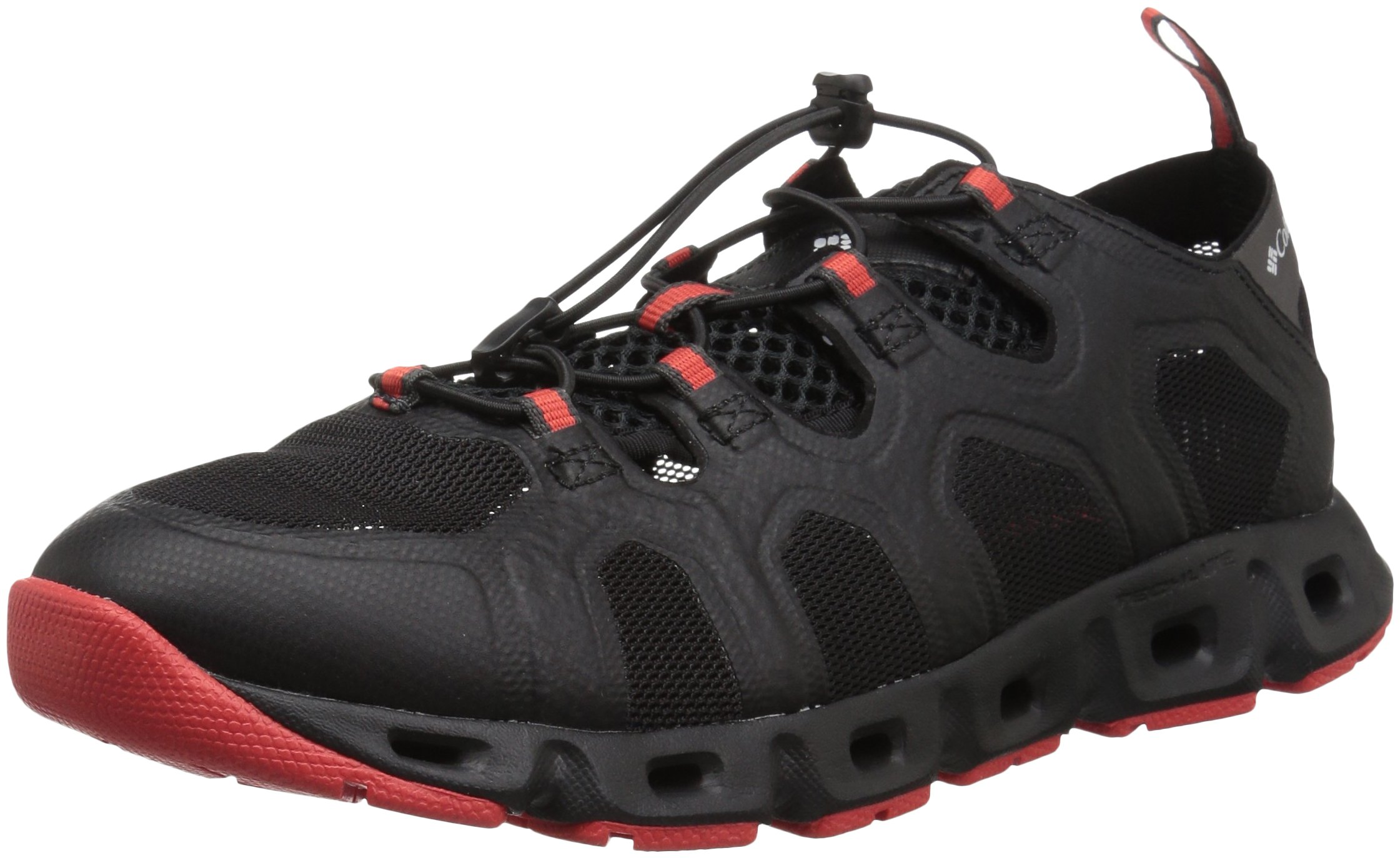 Columbia Men's Supervent III Water Shoe, Black, Poppy red, 12 Regular US by Columbia