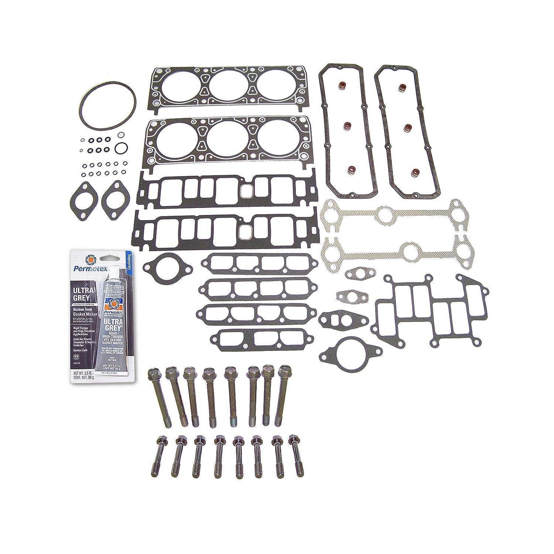 S Head Gasket Set Bolt Kit Fits 85-93 Chevrolet GMC Isuzu Pontiac 2.8L OHV VIN R
