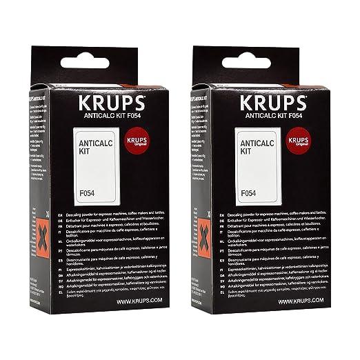 3 opinioni per Krups F054- Kit anticalcare, confezione da 2 pezzi