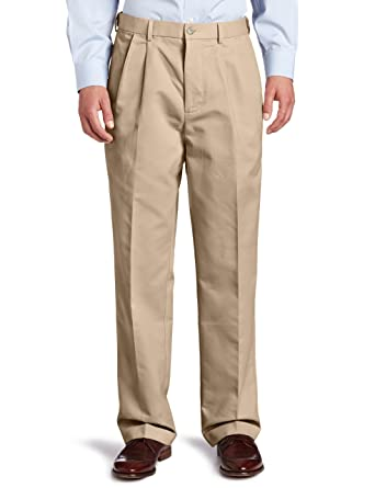 61b45f6b5cefcf Dockers Men's Comfort Khaki D4 Relaxed-Fit Pleated Pant, Khaki -  discontinued, 36W