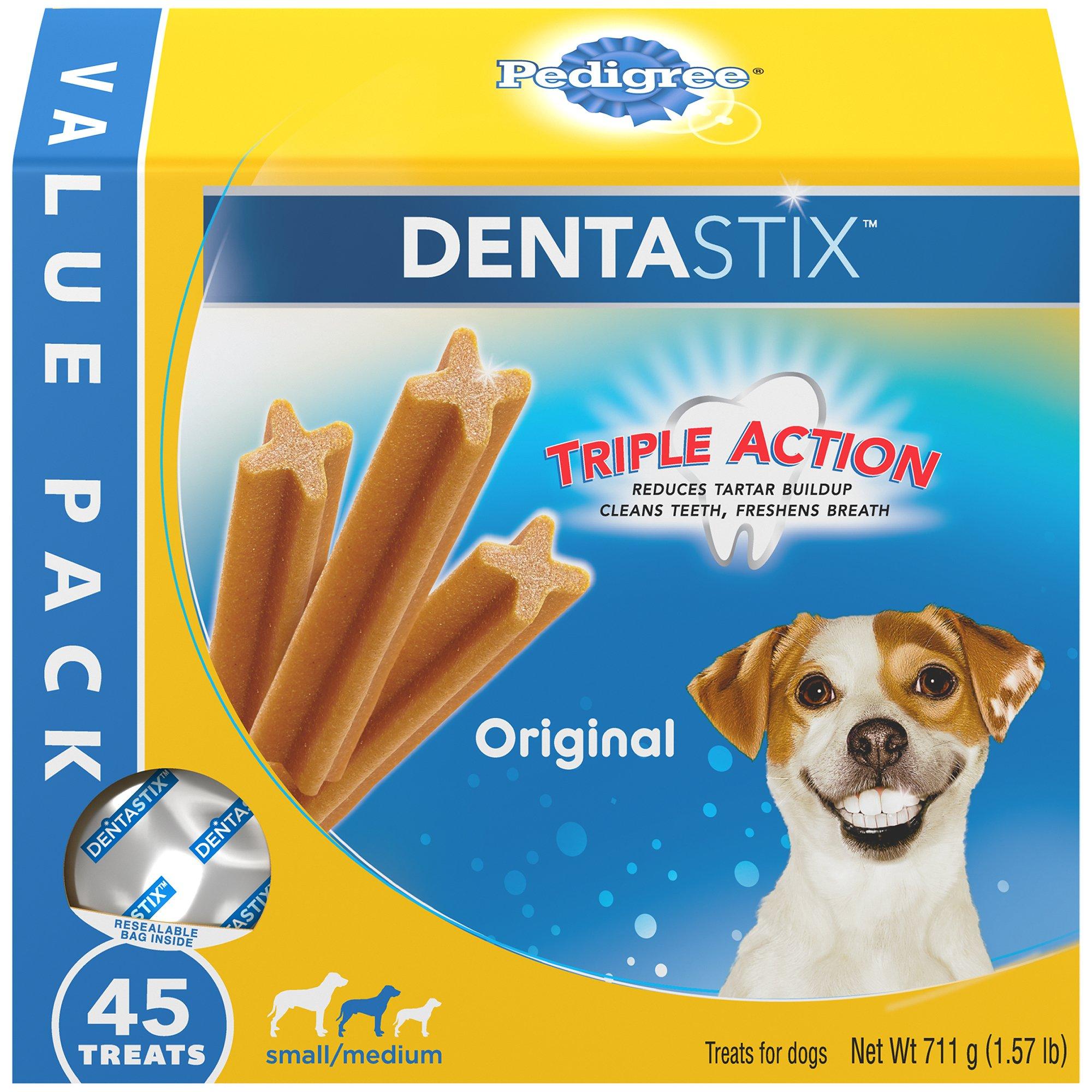 Pedigree DENTASTIX Small/Medium Dental Dog Treats Original, 1.57 lb. Value Pack (45 Treats) by Pedigree