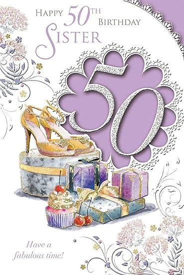 Amazon.com: Xpress Yourself hermana 50 hoy. De tamaño ...