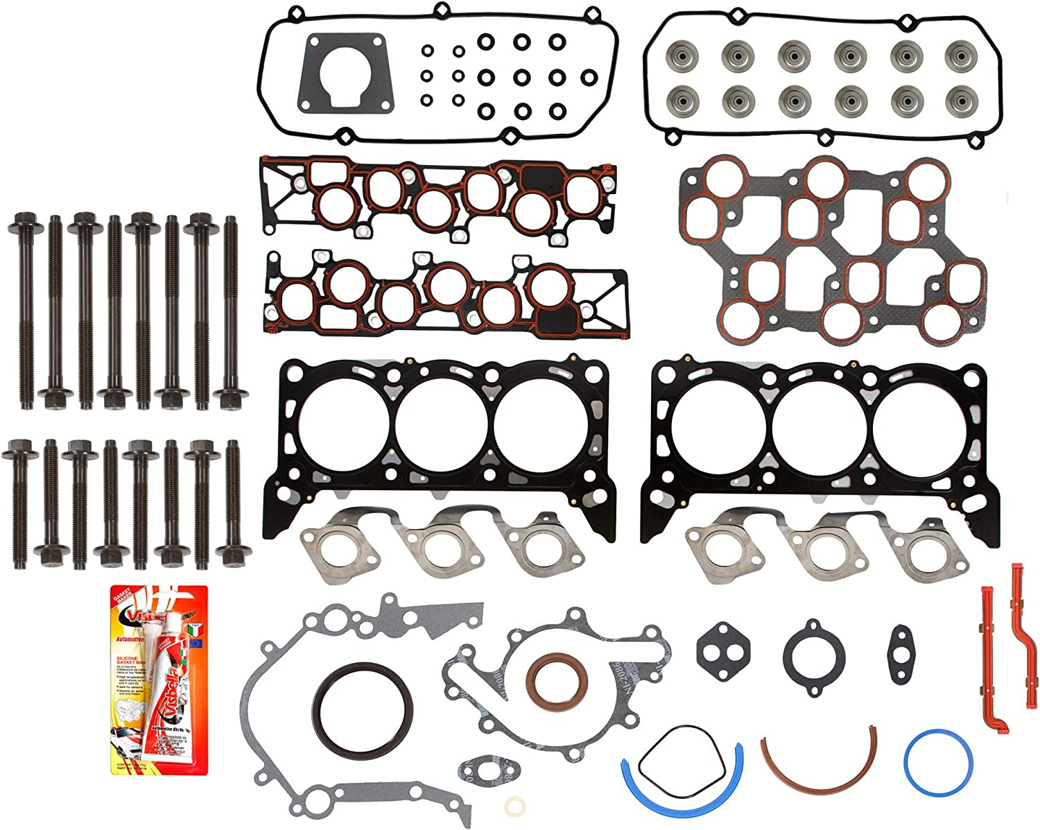 Fits 01-04 Ford Mustang 3.8 /& 3.9 V6 OHV 12V VIN 4,6 Full Gasket Set