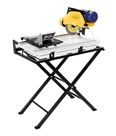 60020SQ 24-Inch Dual Sd Tile Saw with Water Pump and Folding Stand on