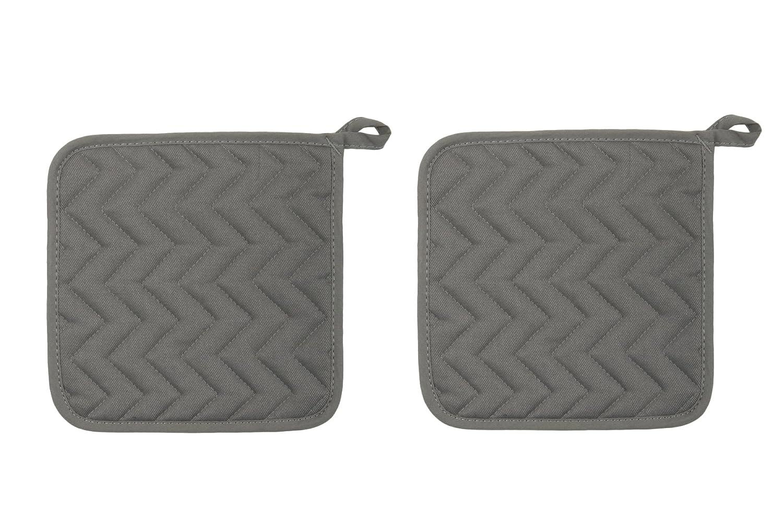 Now Designs Basic Potholders Set of 2 505422aa London Grey