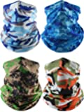 Norme 4 Pieces Summer Bandana Face Mask Thin Neck Gaiter Cooling Sunblock Face Scarf