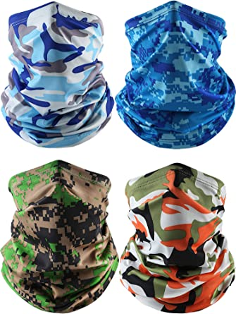 Camo Neck Gaiter Balaclava Bandana Headwear Cooling Face Cover Scarf Ice Silk A+