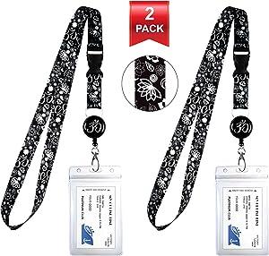 2-Pack Cruise Lanyard & Waterproof ID Key Card Holder Clip. Matching Retractable Badge Reel. Bonus Travel Organizer Bag. Essential Cruise Ship Accessories. Spiritual Symbols Ohm Lotus