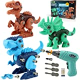 Kids Toys Stem Dinosaur Toy: Take Apart Dinosaur Toys for kids 3-5| Learning Educational Building construction Sets with Elec