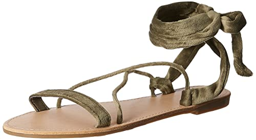 de3920a01c8f Image Unavailable. Image not available for. Colour  Forever 21 Women s  Olive Fashion Sandals ...