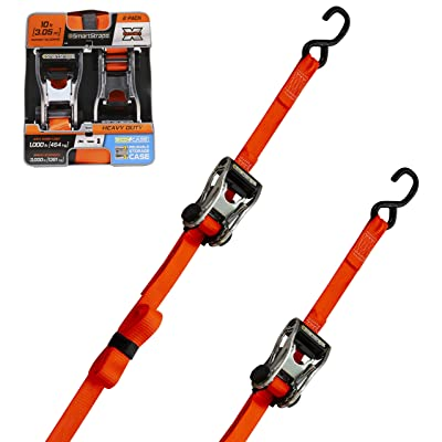SmartStraps Ratchet Straps - 10ft OR Premium RatchetX 2pk 3,000lb: Automotive
