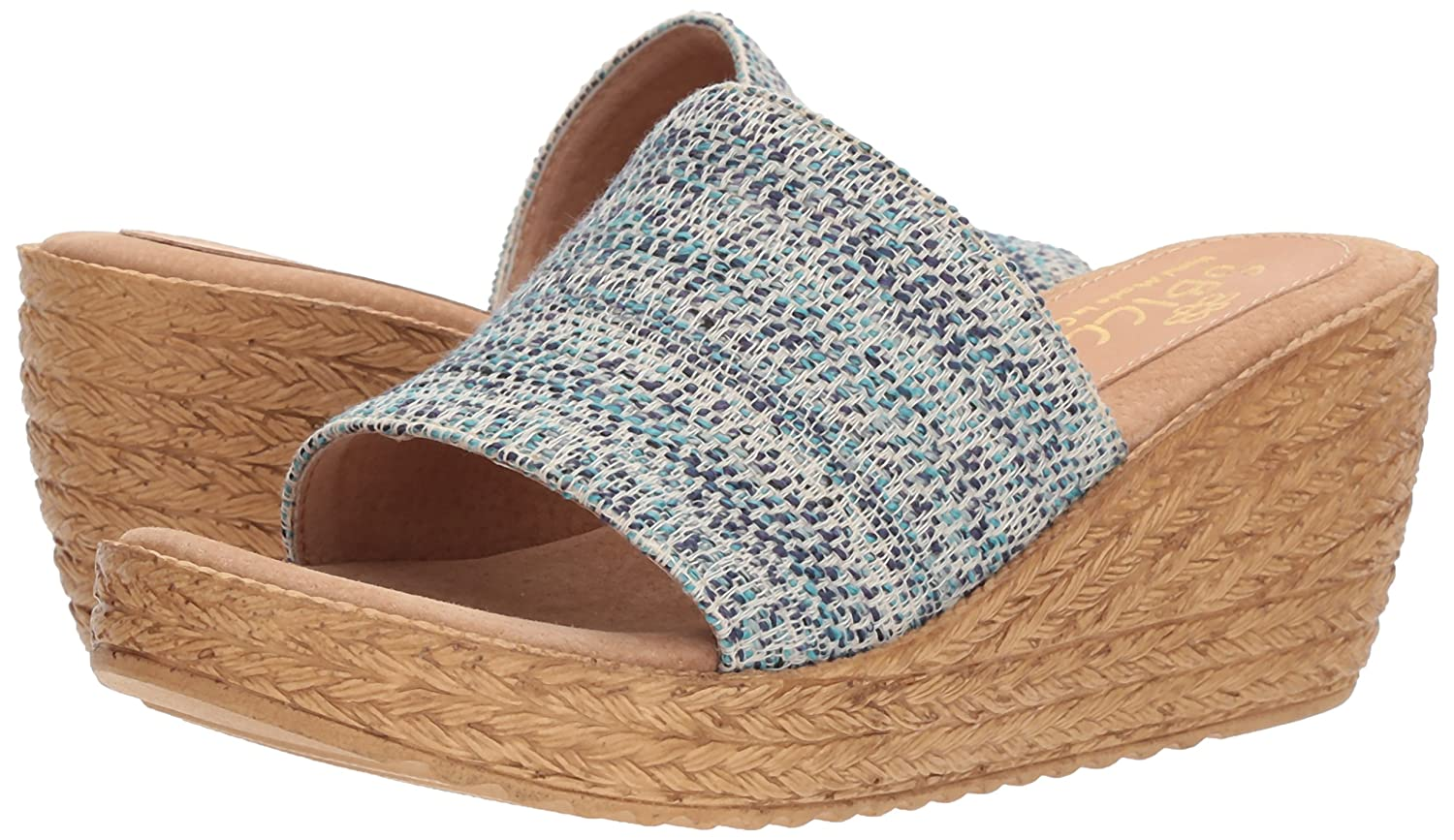 Sbicca Women's Fairy Slide Sandal B0765T9J5S 8 B(M) US|Blue/Multi