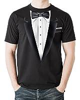 NEU - Schwarz Smoking Tux - Herren T-Shirt - Top Qualität - Kostüm