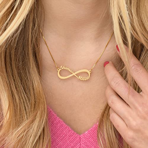 Sterling Silver 92.5 Infinity heart necklace Choice of Pink Gold or Yellow gold
