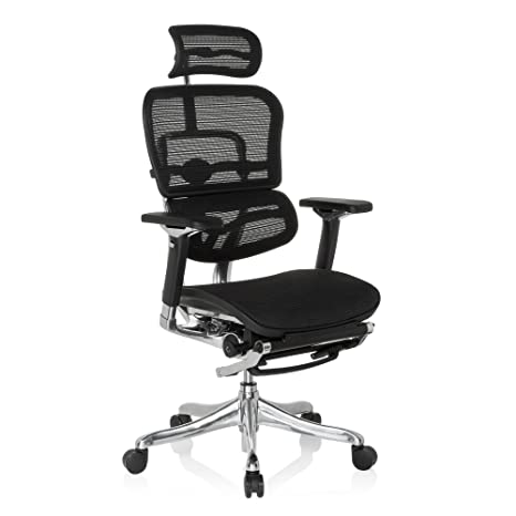 hjh OFFICE 652992 Ergohuman Plus Legpro - Silla de oficina totalmente regulable, color negro