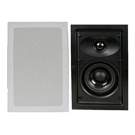 Amazon DLS IW 24 2 Way 4 Ohm 90W In Wall Hi Fi Home Theater Speaker System Pair Audio