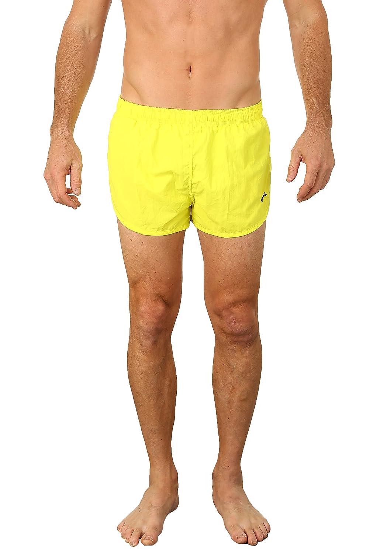 ced48490a0 UZZI Men's Basic Swim Shorts Swimwear Trunks | Amazon.com