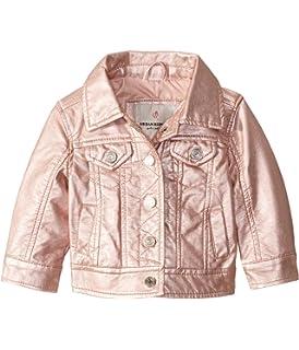 Urban Republic Kids Baby Girls Metallic Faux Leather Moto Jacket Infant//Toddler
