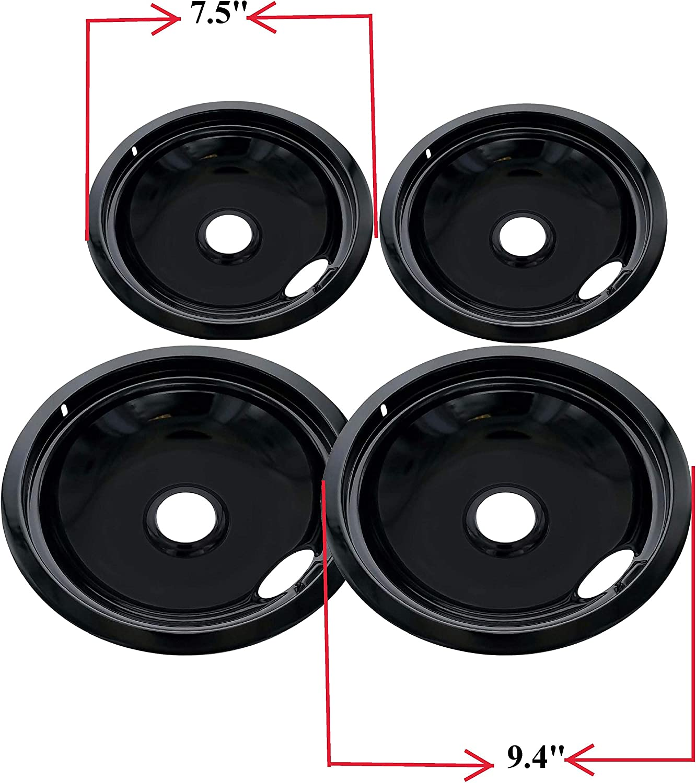 ClimaTek Stove Range 6 Burner Chrome Drip Pan Bowl fits Kenmore Frigidaire PS437596 Q000211875 Q000212095