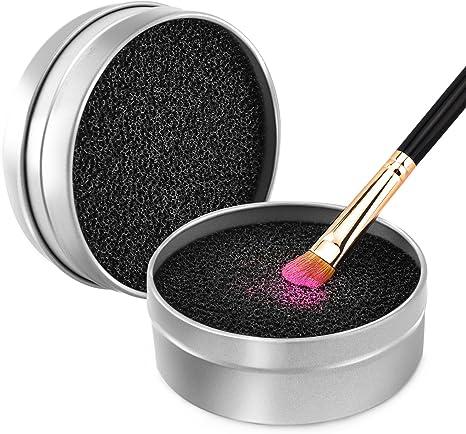 Luxspire Limpiador de Pinceles Maquillaje, Caja de Esponja para ...