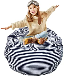 Bean Bag Chair Cover Soft Toy Storage Home Small Or Big Stuffed Animal Chairs For