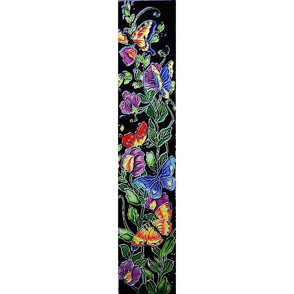 16 x 3 Flowers II Art Tile in Multi