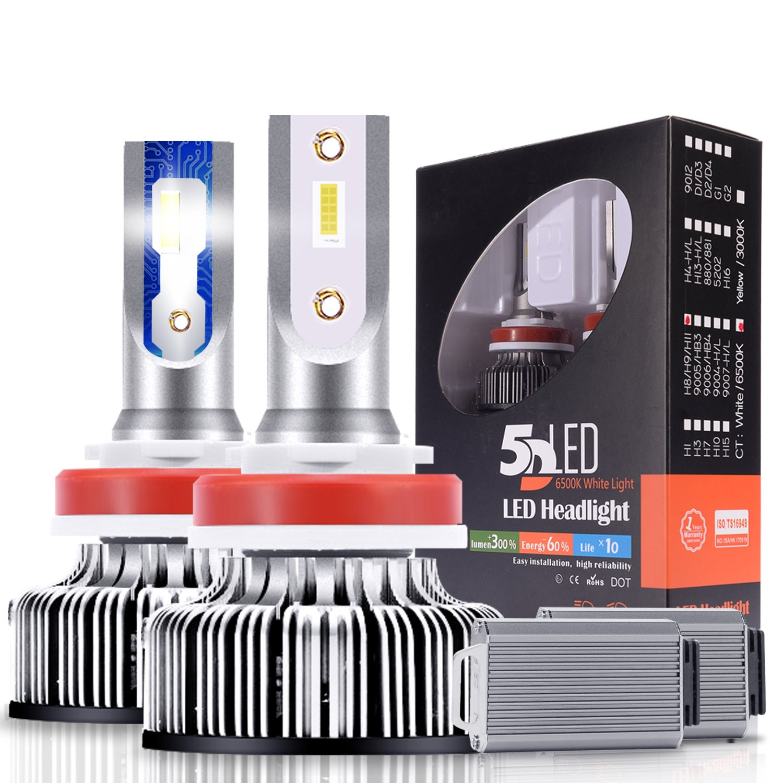 H11 LED Headlight Bulb - 6500K 10000Lm Super Bright LED Headlights H9 H8 Conversion Kit Fog Light/Low Beam/High Beam, CanBus Ready, 2 Years Warranty by Ravmix