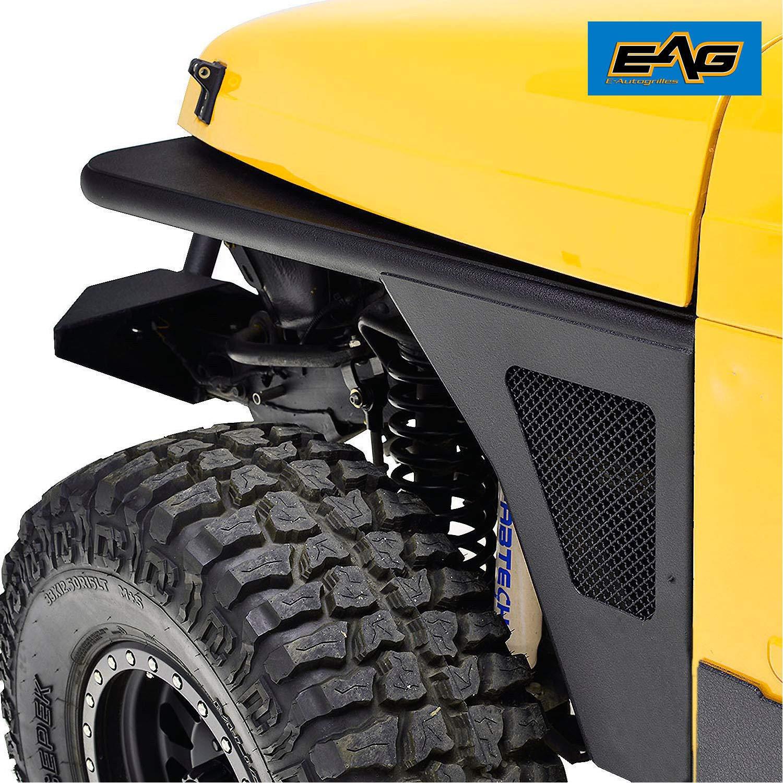 EAG Front Fender Flare Rocker Guard Tubular for 97-06 Jeep Wrangler TJ