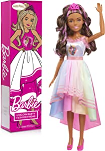 Barbie 28-inch Best Fashion Friend Unicorn Power Doll, Brown Hair, Amazon Exclusive
