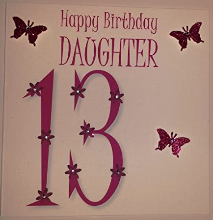Happy birthday card 13th birthday daughter bright pink butterflies happy birthday card 13th birthday daughter bright pink butterflies bookmarktalkfo Gallery