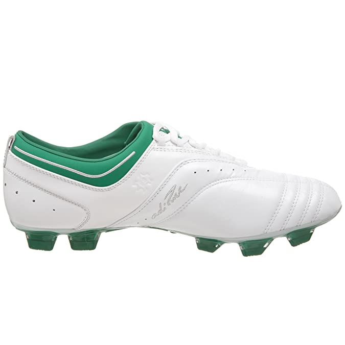 best sneakers 1391a 7f0f6 Amazon.com   adidas Men s adiPURE II TRX Firm Ground Soccer Cleat,  White Fairway Silver, 4 M   Soccer