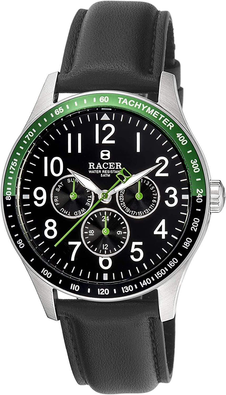 Racer Reloj Cronógrafo para Hombre de Cuarzo con Correa en Cuero R605