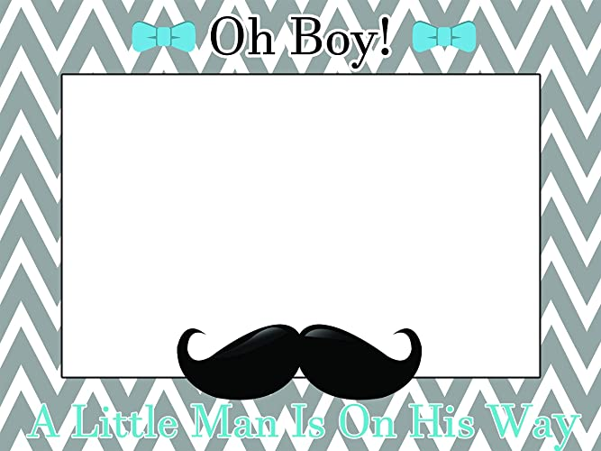 Great Custom Home Decor Little Man Baby Shower Photo Booth Prop   Sizes 36x24,  48x36;