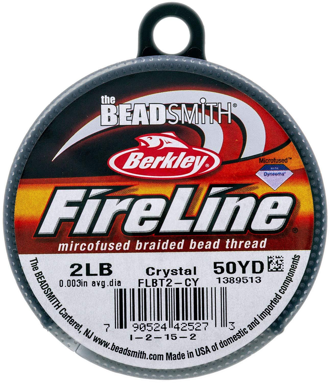 2Lb Fireline Crystal Pre Waxed Beading Thread .003In 0.07mm Diameter 50 Yard