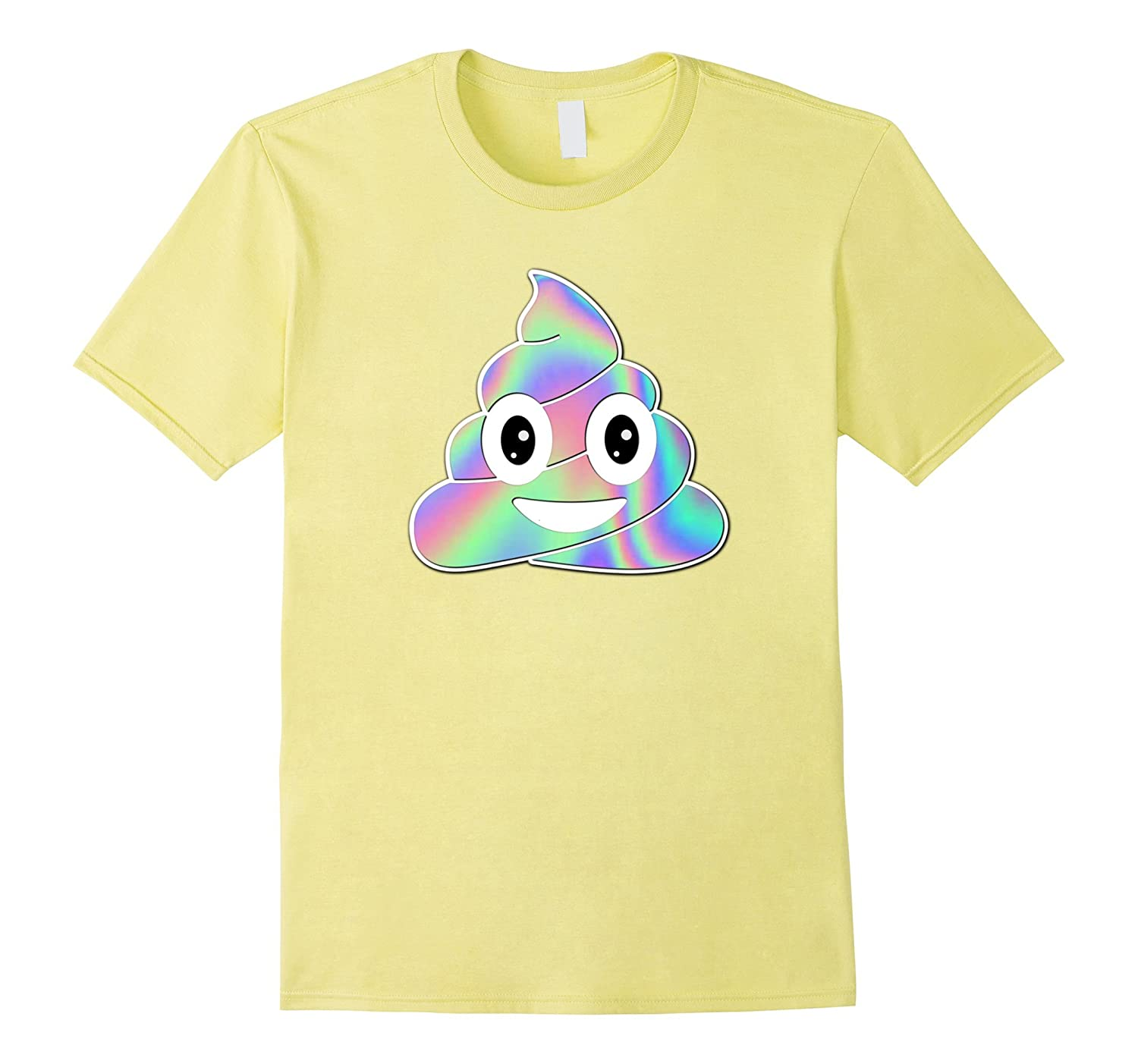 Unicorn Poop Emoji HOLO T-Shirt Women Girls Kids Graphic Tee