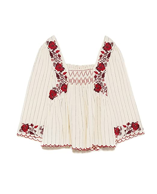 Zara Camisas - Para Mujer Beige L