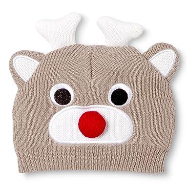 51572ce420c Amazon.com  So dorable Unisex Baby Reindeer Knit Beanie  Clothing