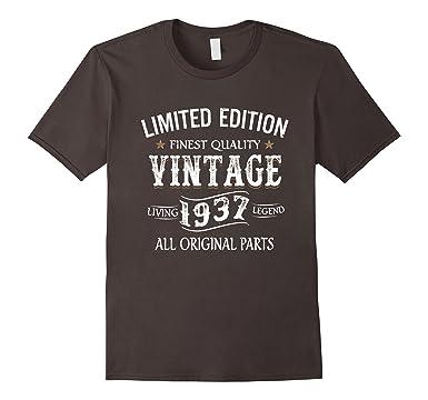 Mens 1937 T Shirt 80th Birthday Gifts 80 Year Old B Day Present 2XL