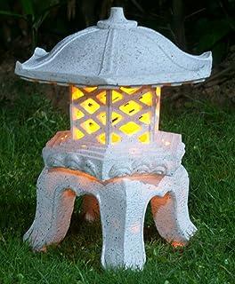 Amazon.com : Solar-Powered Asian Pagoda Style Lantern : Garden & Outdoor