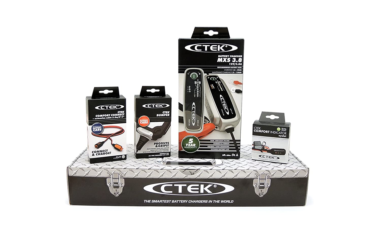 56-309 CTEK MXS3.8 12V-3.8A con Accessori di Connessione Toolbox Set Caricabatteria